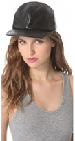 Darien Leather Baseball Cap