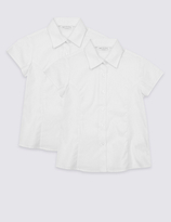 Marks and Spencer 2 Pack Girls' Pure Cotton Blouses