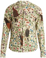 Gucci Birds-print single-cuff cotton shirt