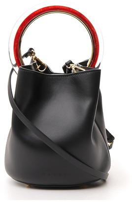 Marni Pannier Small Top Handle Bucket Bag