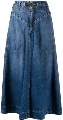 Pinko Pheonix denim skirt