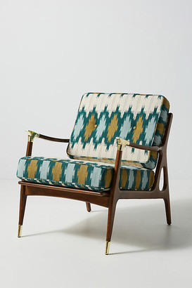 Anthropologie Ikat Haverhill Chair By in Blue Size ALL