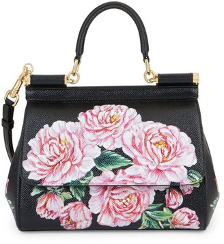 Dolce & Gabbana Mini Rainbow Lace Sicily Leather Satchel