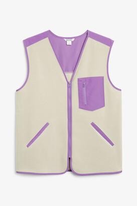 Monki Fleece utility vest