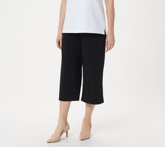 Joan Rivers Classics Collection Joan Rivers Petite Pull-On Textured Crepe Gauchos