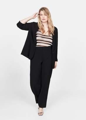 MANGO Violeta BY Straight suit trousers black - 10 - Plus sizes