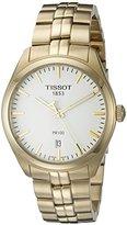Tissot Men's T1014103303100 PR 100 Analog Display Swiss Quartz Gold Watch