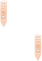 Rebecca Minkoff Studded Huggie Pave Earring