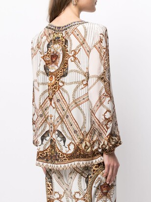 Camilla Mind Your Manor silk blouse