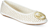Michael Kors Girls' or Little Girls' Faye Maisy Perforated Flats
