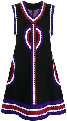 2000s abstract print A-line dress
