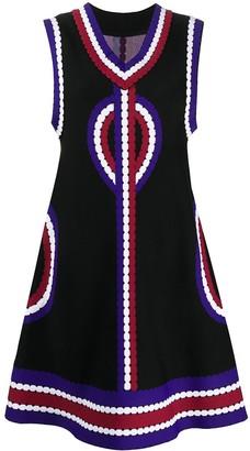 Alaïa Pre Owned 2000s abstract print A-line dress