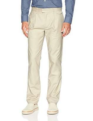 Calvin Klein Men's Slim Fit Flat Front Sateen Trouser Pant