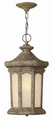 Rowe Park 1-Light Outdoor Hanging Lantern Hinkley Finish: Oil Rubbed Bronze, Bulb Type: Incandescent