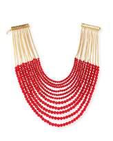Rosantica Raissa Multi-Strand Beaded Necklace, Burgundy