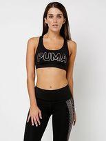 Puma New Pwrshape Forever Logo Bra Top In Black Womens Singlets & Camisole's