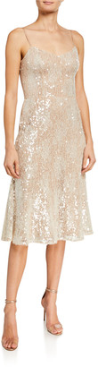 Dress the Population Antonia Sweetheart Sequined Lace Dress