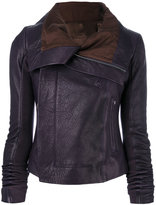 Rick Owens classic biker jacket - women - Leather/Acetate/Cupro - 40