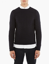 A.P.C. Navy Wool River Sweater