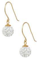 Candela 14K Yellow Gold Plated Sterling Silver Crystal Ball Drop Earrings