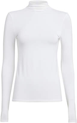 Enza Costa Turtleneck Jersey Knit Top