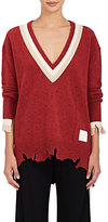 D-ANTIDOTE Women's Distressed Wool-Blend Sweater