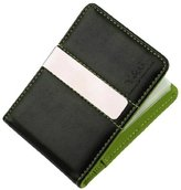 YCM11A01 Dogger Blue Working Designer Stainless Steel Money Clip Black Fine Leather Wallet With 10 Plastic Card Holer By Y&G