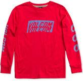 Volcom Graphic-Print Cotton Shirt, Big Boys (8-20)