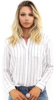 Rails Charli Button Down in White/Ink Stripe