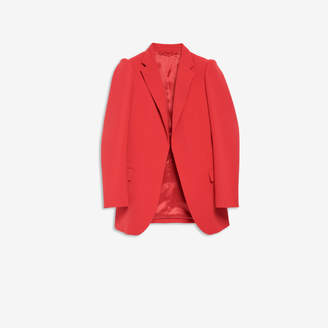 Balenciaga Suspended Shoulder Jacket in red stretch tailoring twill