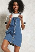 Forever 21 Button-Up Denim Overall Dress