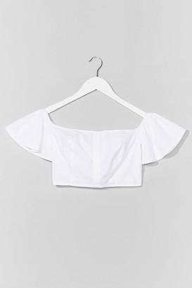 Nasty Gal Womens Weekend Off-the-Shoulder Crop Top - White - 14