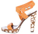 Brian Atwood Woven Leather Sandals