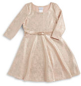 Iris & Ivy Girls 7-16 Metallic Belted Dress