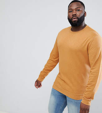 Asos Design DESIGN Plus sweatshirt in yellow overdyed marl
