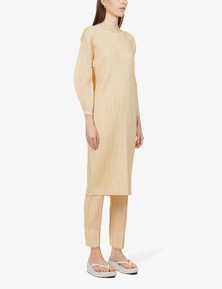 Pleats Please Issey Miyake Pleated woven midi dress