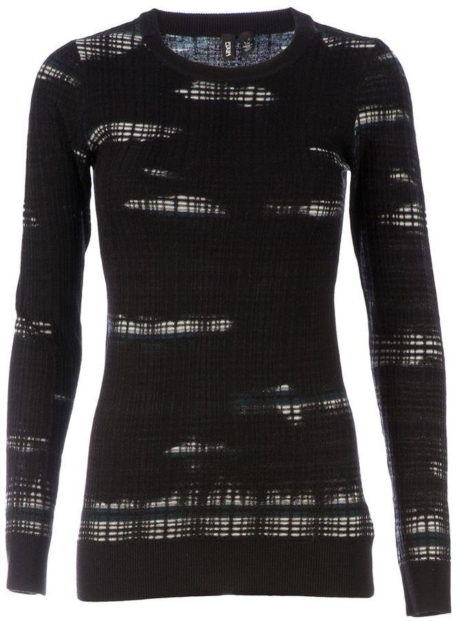 Edun blotchy print jumper