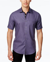 Alfani Men's Textured Short-Sleeve Shirt, Slim Fit