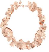 Aurelie Bidermann Ginkgo rose gold-plated necklace