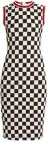 Givenchy Round-neck sleeveless checked-jersey dress