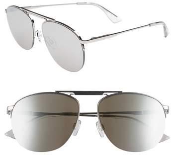 Le Specs Women's Liberation 57Mm Aviator Sunglasses - Dark Gold/ Tortoise