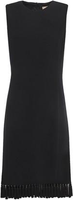 Michael Kors Tassel-trimmed Stretch-wool Crepe Dress