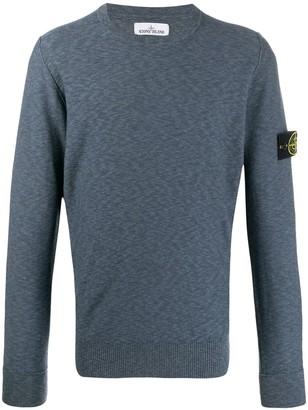 Stone Island logo badge sweatshirt