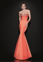 Tarik Ediz Sculpted Seamed Gown 92488