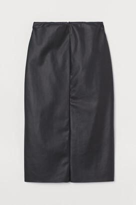 H&M Faux Leather Pencil Skirt - Black