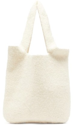 LAUREN MANOOGIAN Oval Cotton-blend Tote Bag - Womens - White