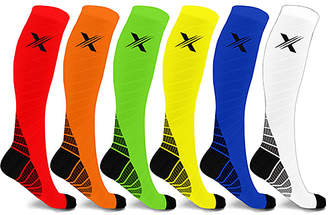 Xtf By Extreme Fit XTF by Extreme Fit Compression Socks - Red & Green Performance Support 1520 mmHg Six-Pair Compression Socks Set
