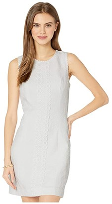 Lilly Pulitzer Mila Stretch Shift Dress (Resort White Turtle Pucker Jacquard) Women's Dress