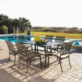 Panama Jack Outdoor Island Breeze 7-piece Slatted Dining Group with Arm Chairs