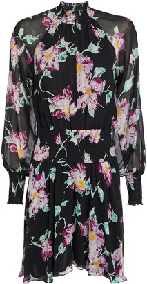 A.L.C. Hollis Floral Silk Mini Dress